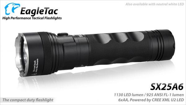 EagleTac SX25A6 – 1305 Lumen LED Torch AA Batteries