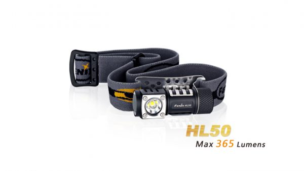 Fenix HL50 - 365 Lumens LED Headlamp - Black