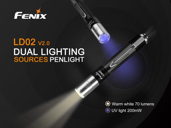 Fenix LD02 V2.0 - White / UV Pen Torch