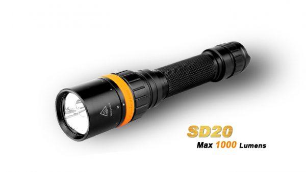 Fenix SD20 - 1000 Lumens Diving Led Torch