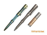 Fenix T5Ti Titanium Tactical Pen & F15 Torch Gift Set - Grey Pen